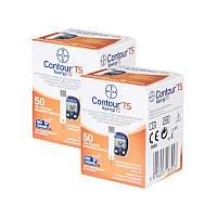 Контур ТС тест-полоски для глюкометра Contour TS набором из 2 упаковок (100 шт.)