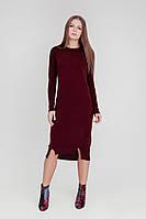 Красивое бордовое платье (46-48, бордо, 60% акрил/ 30% шерсть/ 10% эластан)