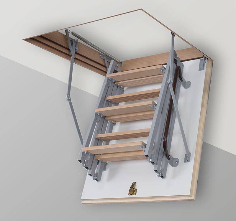 Лестница на чердак TermoPlus Met 3s ( Чердачные лестницы)