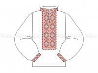 Заготовка мужской сорочки для вышивки бисером «Орнамент»