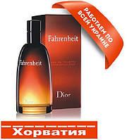 Мужская туалетная вода  100 ml, Кристиан Диор Фаренгейт Хорватия Люкс качество АА++  Копия