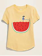 Фирменная футболка для девочки