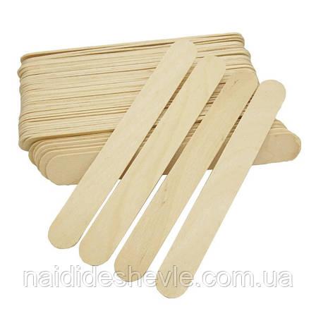 Шпателі дерев'яні для депіляції, широкі, фото 2