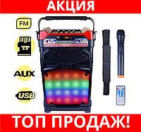 SALE!Радиоприёмник колонка NS 1389 BT с микрофоном и цветомузыкой, фото 1