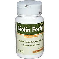 Биотин форте с дополнительной прочностью Enzymatic Therapy 5 мг 60 таблеток