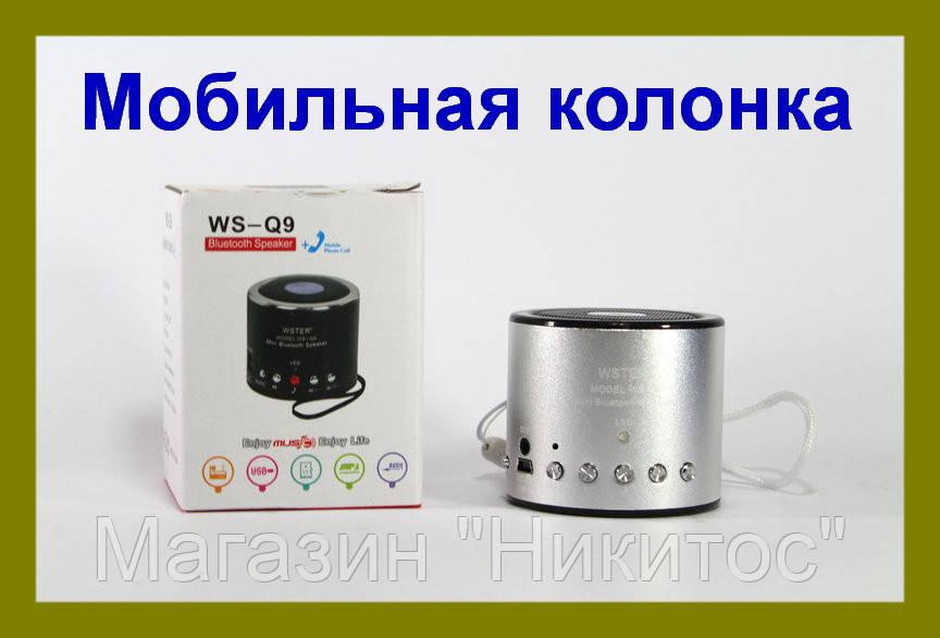 SALE!Портативная Bluetooth колонка WSTER WS-Q9 (Красная)