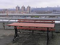 Стол кованый садовый 2м