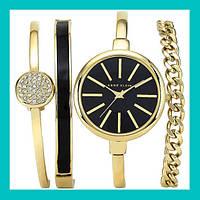 SALE!Часы в подарочной упаковке ANNE KLEIN Gold black, фото 1