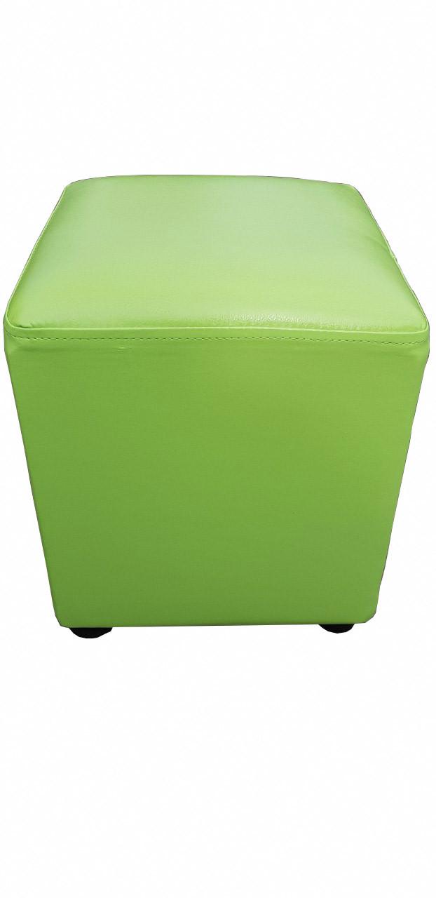 Пуфик квадрат ( зеленый )-35×35×40см.