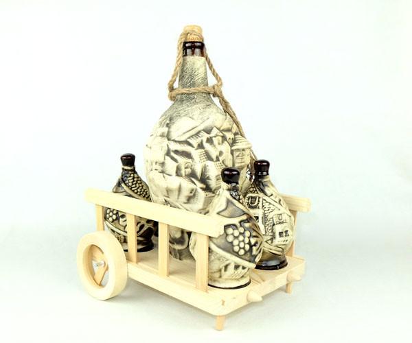 Квеври на телеге - подарочный набор для вина