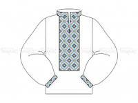 Заготовка мужской сорочки для вышивки бисером «3D»