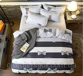 Сатиновое постельное белье.Полуторный комплект.100% хлопок.