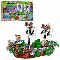 """Конструктор (Аналог Лего Майнкрафт) Bela 11139 Minecraft """"Корабль - Битва на реке"""" 630 деталей"""