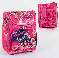 Каркасный рюкзак для школьников The Butterfly 3D с ортопедической спинкой