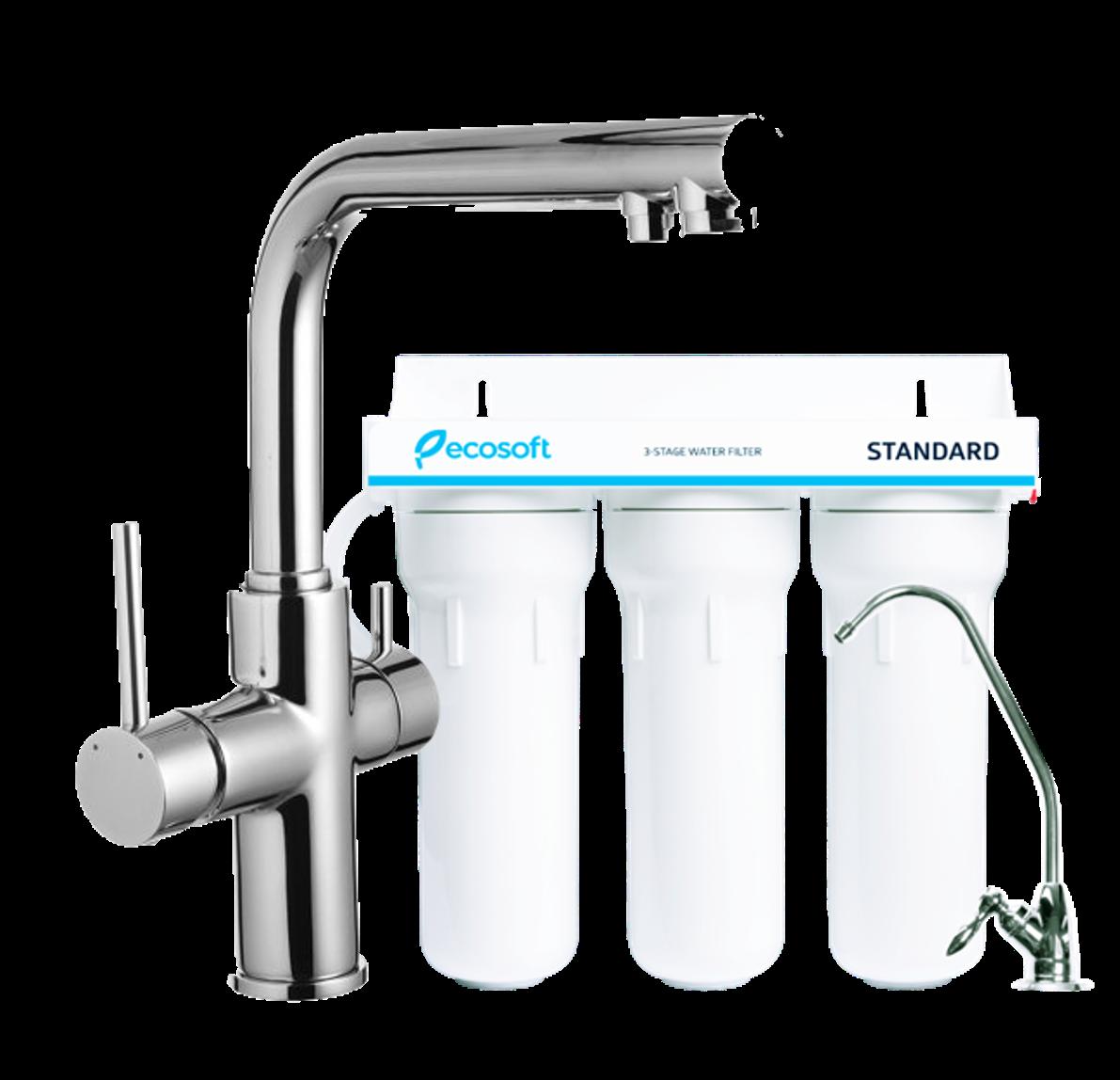 Смеситель для кухни Imprese Daicy в комплекте с системой очистки воды Ecosoft Standart