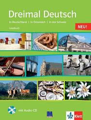 Dreimal Deutsch. Lesebuch. Buch + Audio-CD. A2 / B1