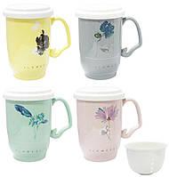 """Чашка заварочная с керамическим ситом """"Ароматный чай"""", 450 мл, в ассортименте"""
