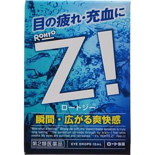 Rohto Z! Освіжаючі краплі для очей з цинком від втоми, свербежу та сухості, індекс свіжості 8, 12 мл