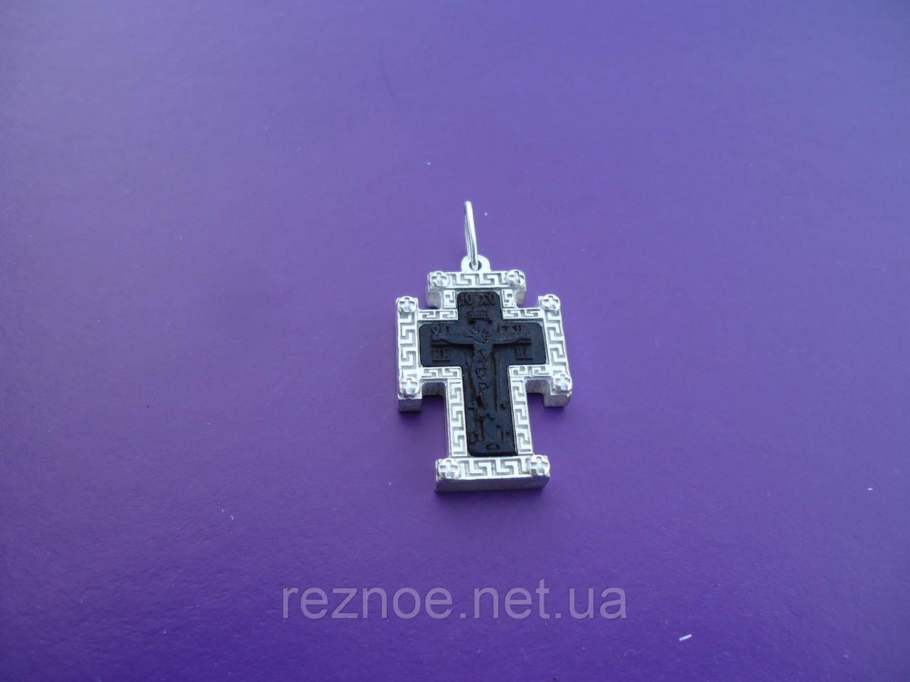 Крест в окладе серебра