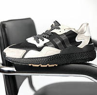 Мужские кроссовки Adidas ZX 500 Commonwealth в сеточку белые (Реплика ААА+)
