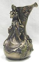 Декоративная настольная ваза Сидящая девушка с бронзовым напылением купить в интернет магазине.
