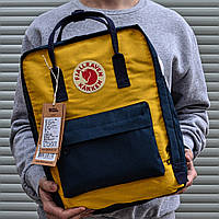Рюкзак Канкен Fjallraven Kanken Classic Bag желтый с синим. Живое фото. Качество Топ! (Реплика ААА+)