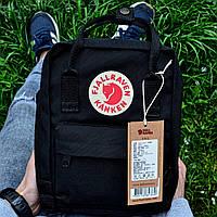Рюкзак Канкен Fjallraven Kanken Mini Bag черный. Живое фото. Качество Топ! (Реплика ААА+)