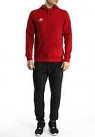 Зимний спортивный костюм , костюм на флисе Adidas, красный верх, черный низ, с188