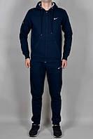 Зимний спортивный костюм , костюм на флисе Nike, темно-синий кенгуру, с3388