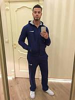Зимний спортивный костюм , костюм на флисе Nike, темно-синий, с3390
