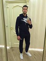 Зимний спортивный костюм , костюм на флисе Nike черный цвет, логотип вышит, с3391
