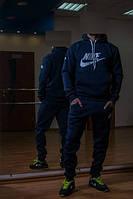 Зимний спортивный костюм , костюм на флисе найк, темно-синий, с3392