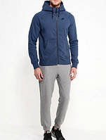 Зимний спортивный костюм , костюм на флисе Nike, синий верх, серый низ, с3394