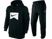 Зимний спортивный костюм , костюм на флисе Nike, черный цвет, индонезия, логотип вышит, с3399
