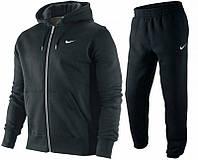 Зимний спортивный костюм, костюм на флисе Nike черный, с3401