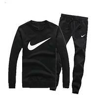 Зимний спортивный костюм , костюм на флисе Nike, найк, черный цвет, с3405