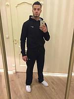 Зимний спортивный костюм , костюм на флисе найк, черный, с3407