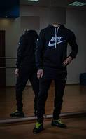 Зимний спортивный костюм , костюм на флисе Nike черный, индонезия, с3409