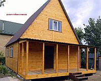Дачный домик 7,0м х 7,5м фальшбрус с мансардой, фото 1