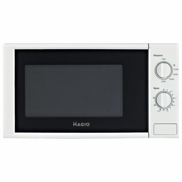 Кухонная техника микроволновка MAGIO MG-255 700 Вт белый корпус функциональная