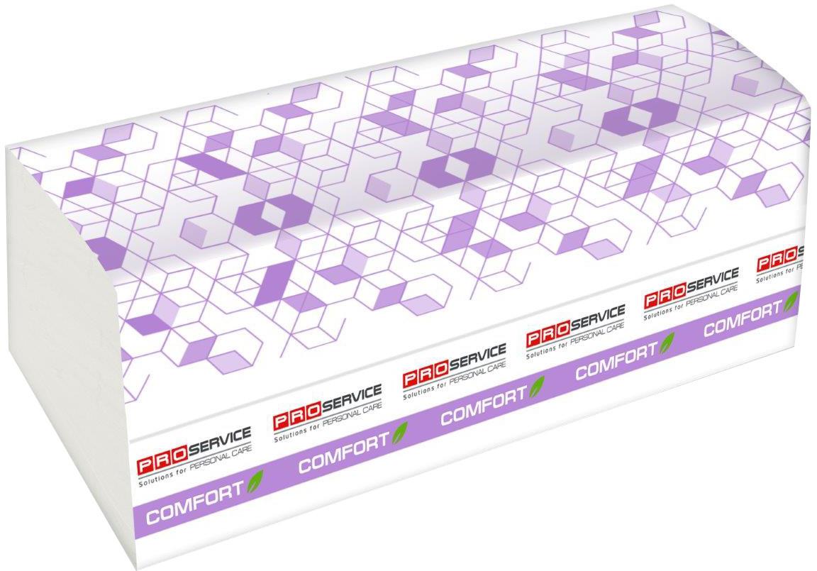 Полотенца бумажные двухслойные PROSERVICE Comfort Eco, V-сложение, 160 шт., белые
