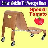 Ортопедическое кресло для детей с ДЦП c деревянной мобильной базой Special Tomato Sitter Size 4 + Mobile Base, фото 2