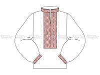 Заготовка мужской сорочки для вышивки бисером «Ромбы красные»