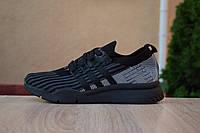 Мужские кроссовки в стиле Adidas Equipment, текстиль, пена, черные 41 (26,5 см)