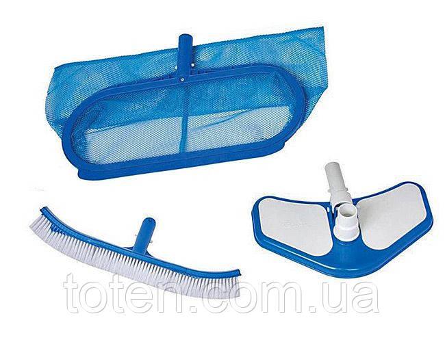 Набір Intex 29057 для догляду за басейном (сачок, щітка, вакуумна насадка)