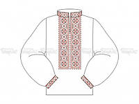 Заготовка мужской сорочки для вышивки бисером «Красные звездочки»