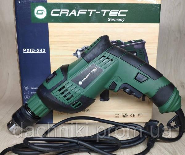 Дрель Craft-tec PXID-243 ударная Ø13 (900W)