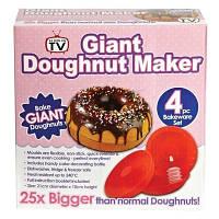 Форма силиконовая для выпечки огромных пончиков Giant Doughnut Maker