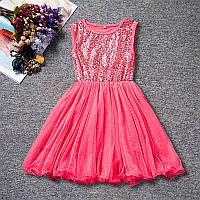 Платье с пайетками для девочки размер 110., фото 1