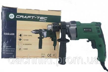 Дрель Craft-tec PXID-230 ударная Ø13 (1210W), фото 2